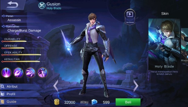 6600 Koleksi Gambar Hero Mobile Legends Gusion HD Terbaru