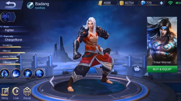 skin terbaru hero badang mobile legends