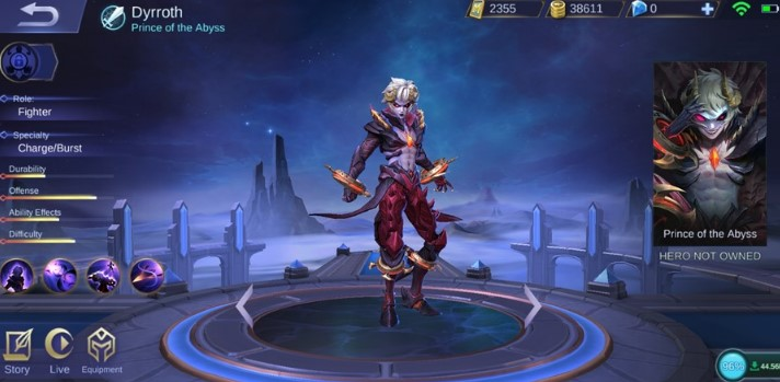 Sosok Hero Dyrroth Wajib Punya Mobile Legends